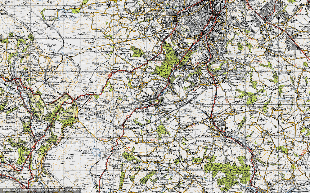 Old Map of Abbeydale Park, 1947 in 1947