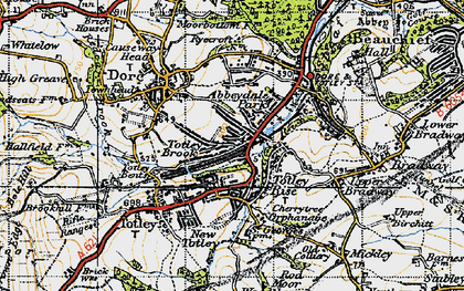 Old map of Abbeydale Park in 1947