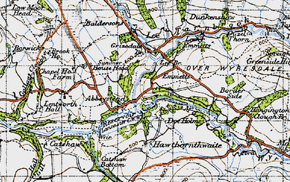 Old map of Abbeystead in 1947