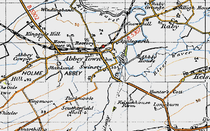 Old map of Abbeytown in 1947