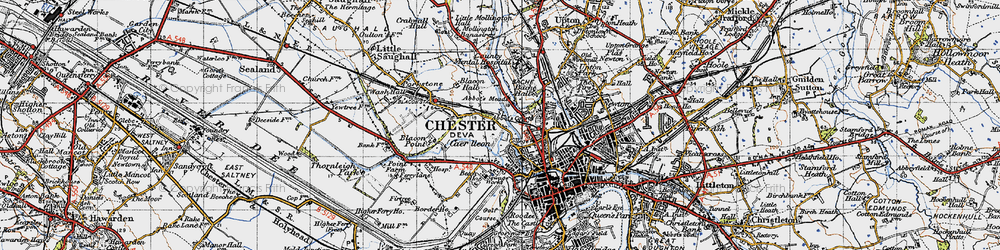 Old map of Abbot's Meads in 1947