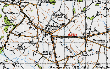 Old map of Abbots Bromley in 1946