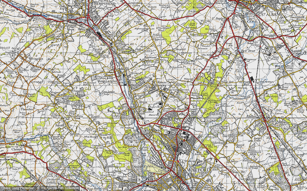 Old Map of Abbots Langley, 1946 in 1946