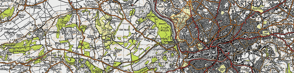 Old map of Abbots Leigh in 1946
