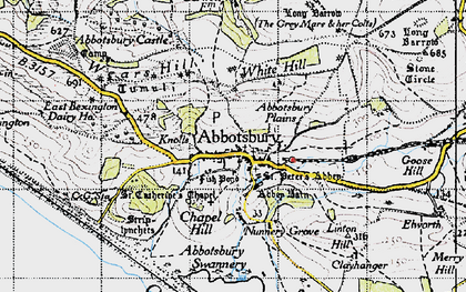 Old map of Ashley Chase Ho in 1946