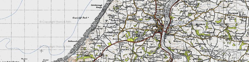 Old map of Abbotsham Cross in 1946