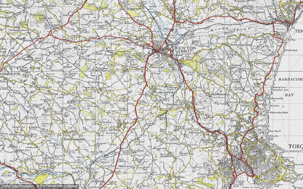 Old Map of Abbotskerswell, 1946 in 1946