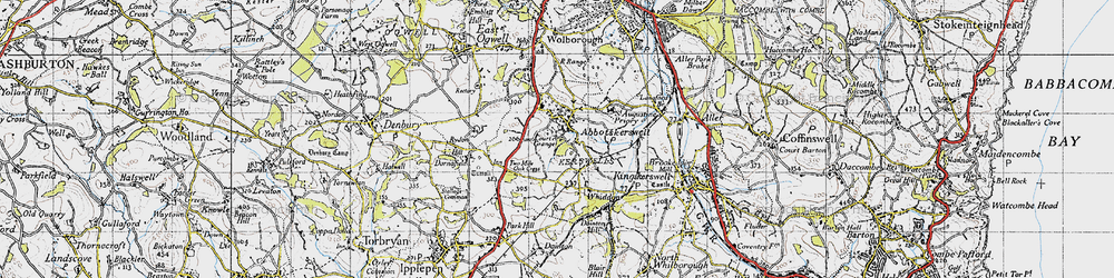 Old map of Abbotskerswell in 1946