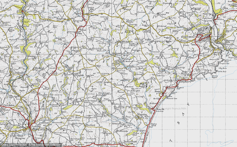 Old Map of Abbotsleigh, 1946 in 1946