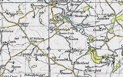 Old map of Abbotsleigh in 1946
