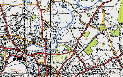 Old map of Abbotswood in 1940