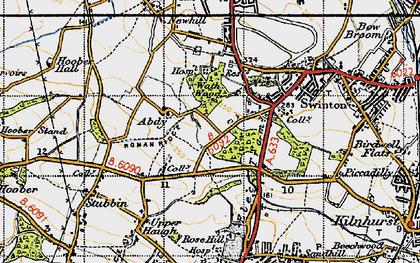 Old map of Abdy in 1947