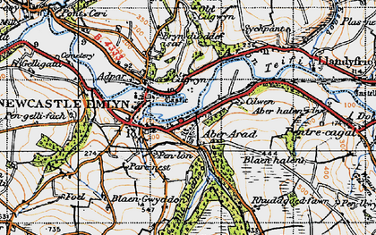 Old map of Allt Boeth in 1947