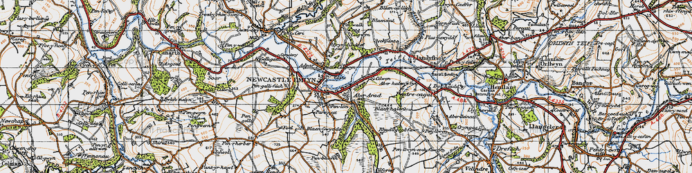 Old map of Allt Boeth in 1947