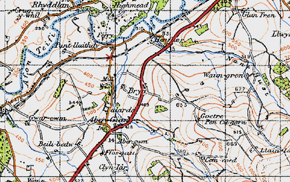 Old map of Aber-Giâr in 1947