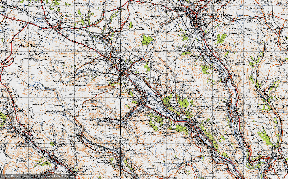 Old Map of Aberaman, 1947 in 1947