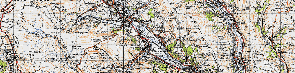 Old map of Aberaman in 1947