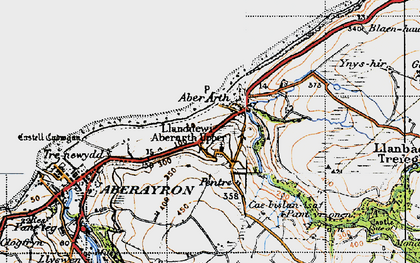Old map of Aberarth in 1947