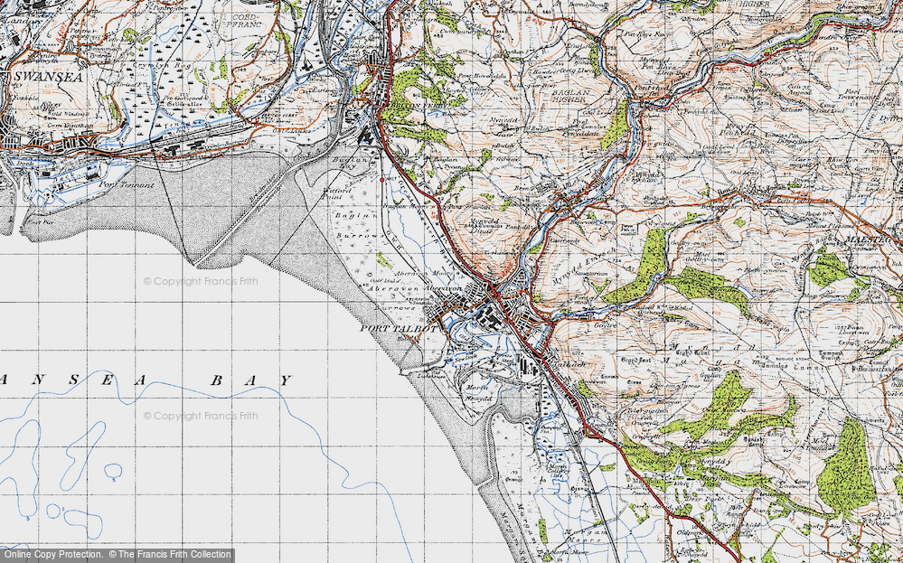 Old Map of Aberavon, 1947 in 1947
