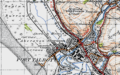 Old map of Aberavon in 1947