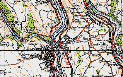 Old map of Aberbargoed in 1947