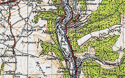 Old map of Abercarn in 1947