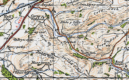 Old map of Abercegir in 1947
