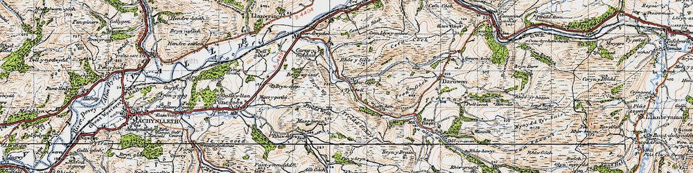 Old map of Abercegir in 1947