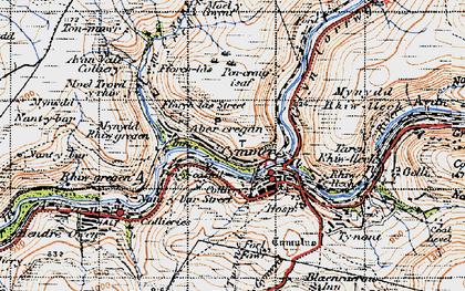 Old map of Abercregan in 1947