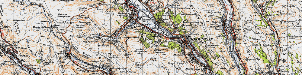 Old map of Abercwmboi in 1947