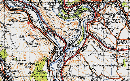 Old map of Abercynon in 1947