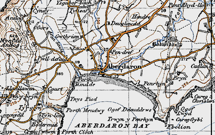 Old map of Ynys Gwylan-fawr in 1947