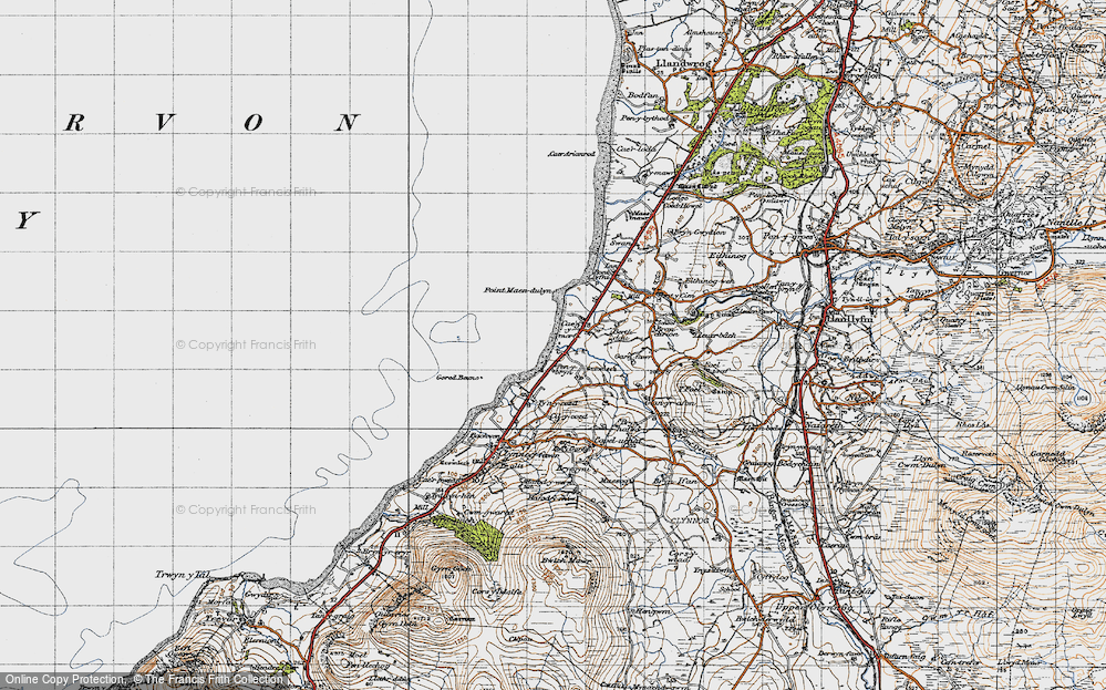 Old Map of Aberdesach, 1947 in 1947