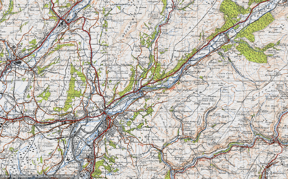 Old Map of Aberdulais, 1947 in 1947
