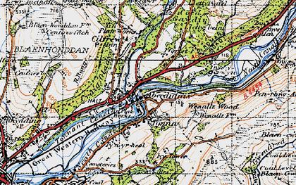 Old map of Ynys-y-gerwyn-fach in 1947
