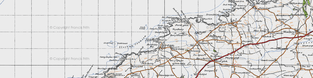 Old map of Abereiddy in 1946
