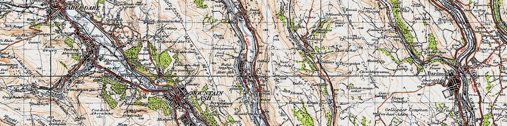 Old map of Aberfan in 1947