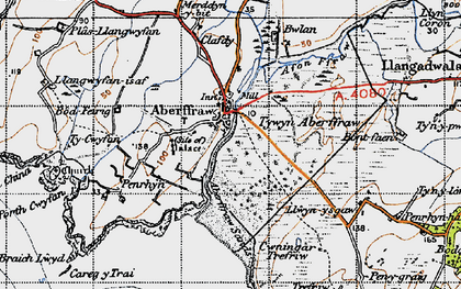 Old map of Aberffraw Bay in 1947