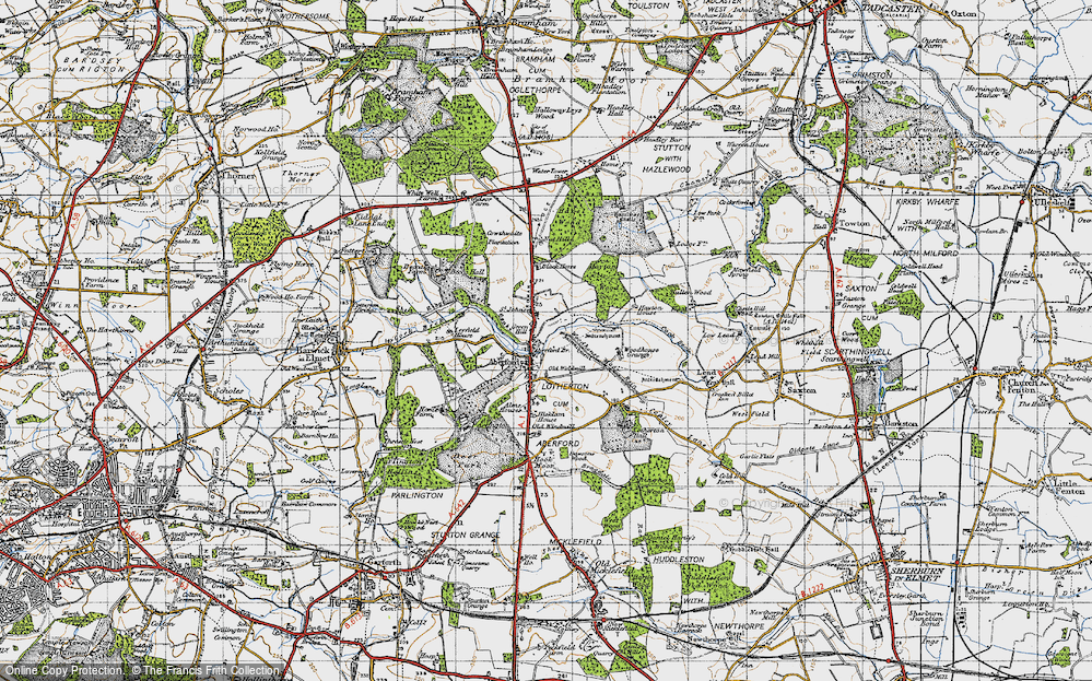 Old Map of Aberford, 1947 in 1947