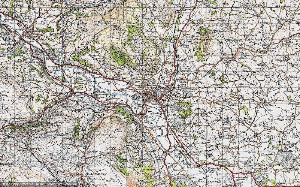 Old Map of Abergavenny/Y Fenni, 1947 in 1947