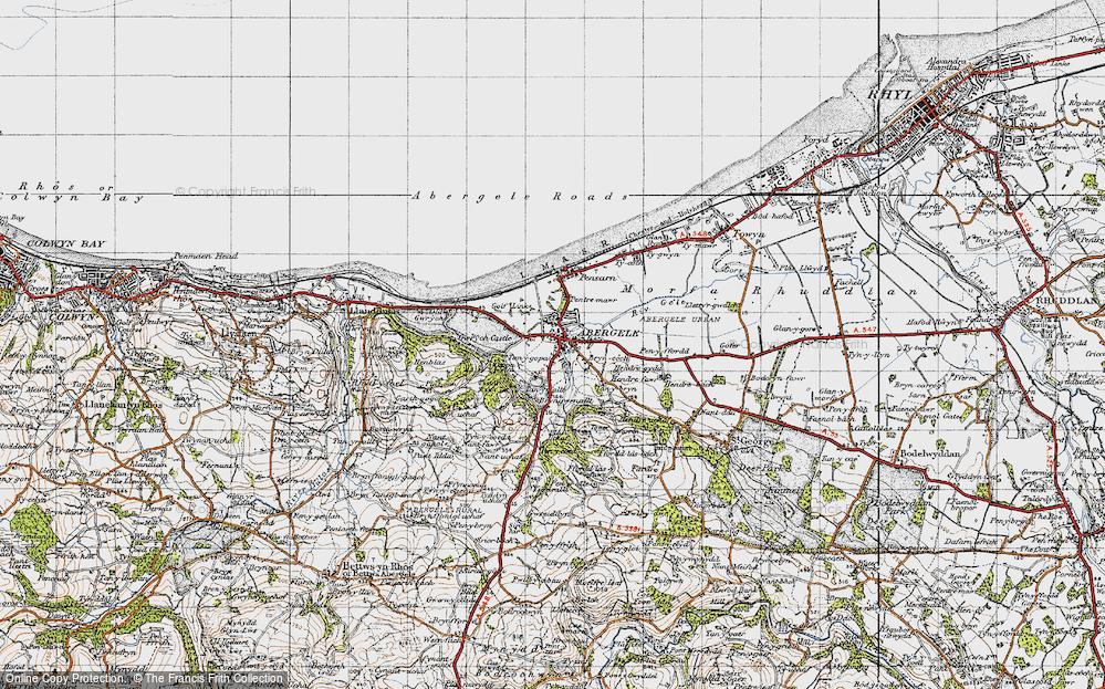 Old Map of Abergele, 1947 in 1947