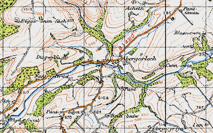 Old map of Acheth in 1947