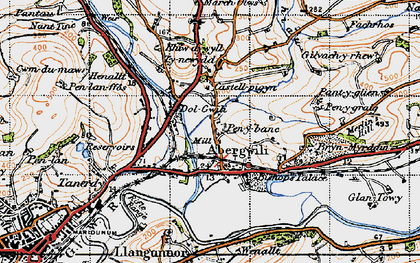 Old map of Abergwili in 1946