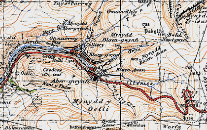 Old map of Abergwynfi in 1947