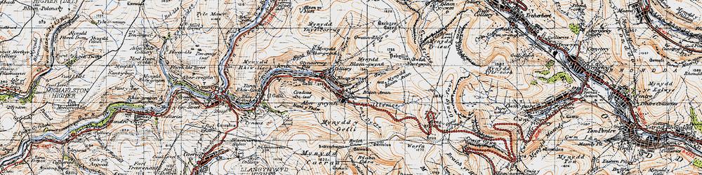 Old map of Abergwynfi in 1947