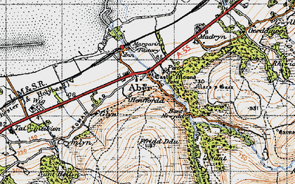 Old map of Abergwyngregyn in 1947