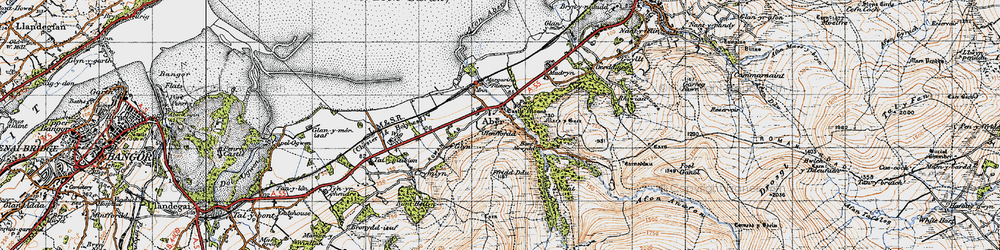 Old map of Wig in 1947