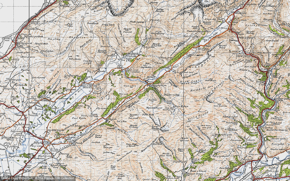 Old Map of Abergynolwyn, 1947 in 1947