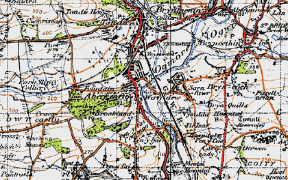 Old map of Aberkenfig in 1947