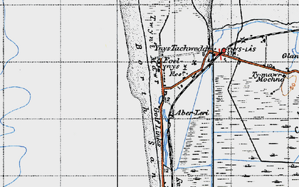 Old map of Aberlerry in 1947